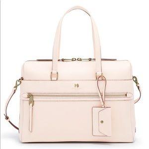 New Henri Bendel Cream Noho Briefcase ~ Leather